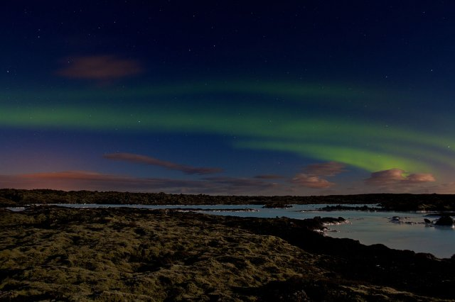 Aurora Borealis over Blue Lagoon