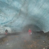 Geothermal activity causes the formation of ice caves